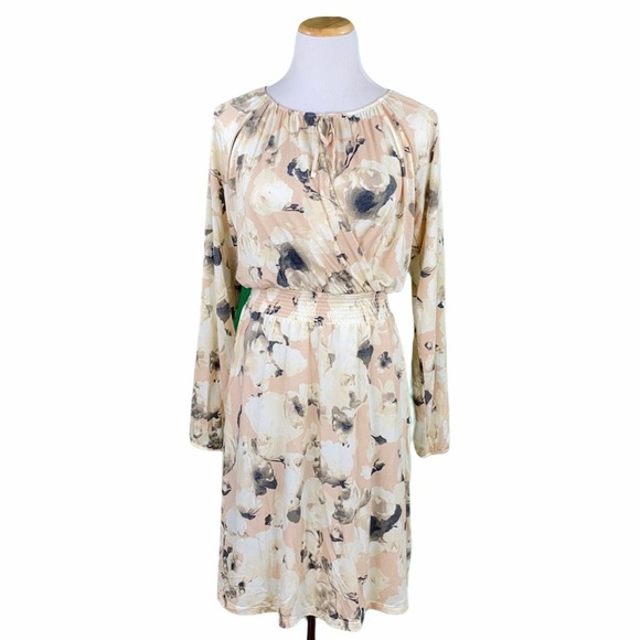 LuLaRoe Jody Floral Long Sleeve Peasant Dress
